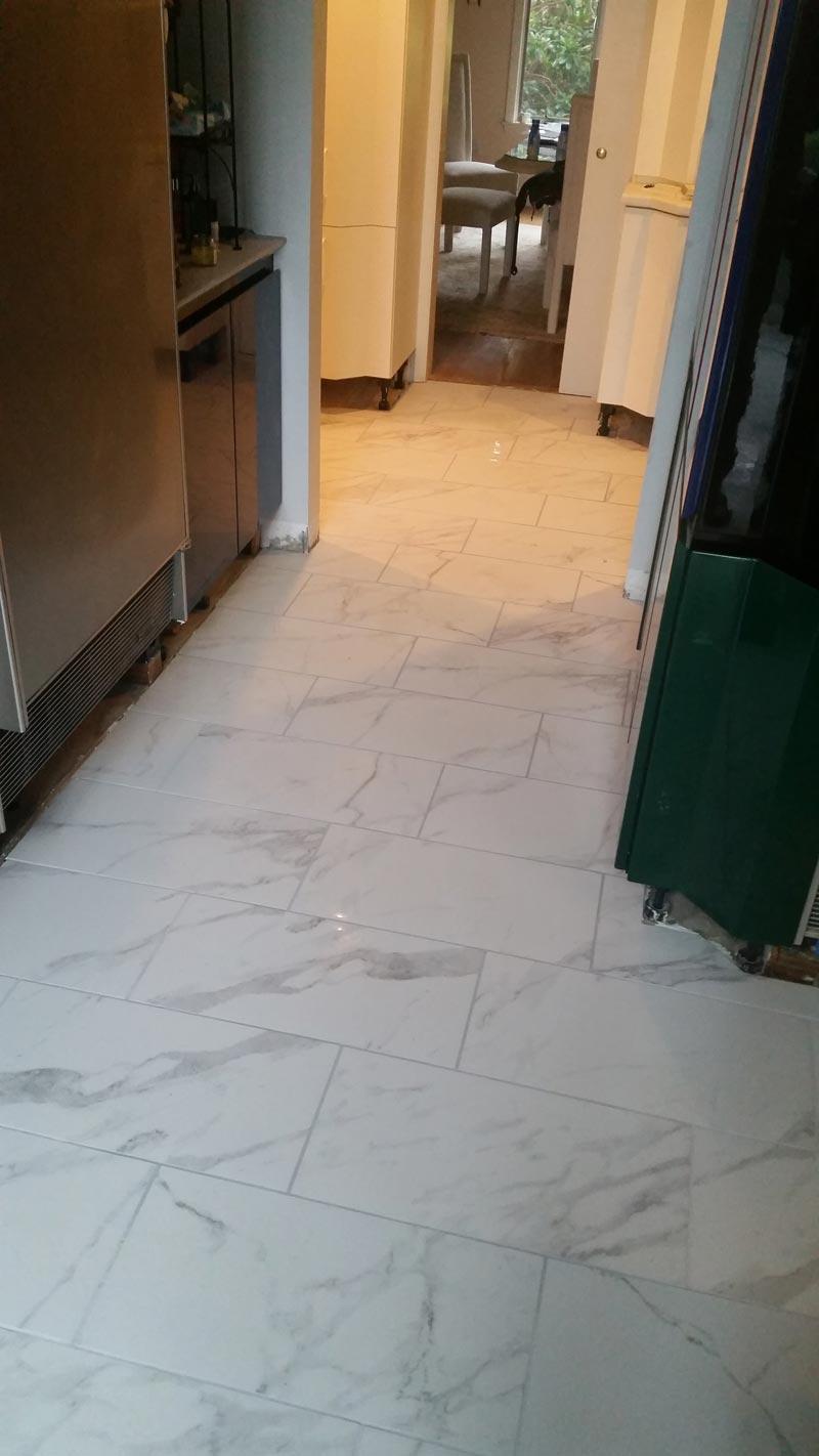 Kitchen Tile Floor Install New Floors Inc